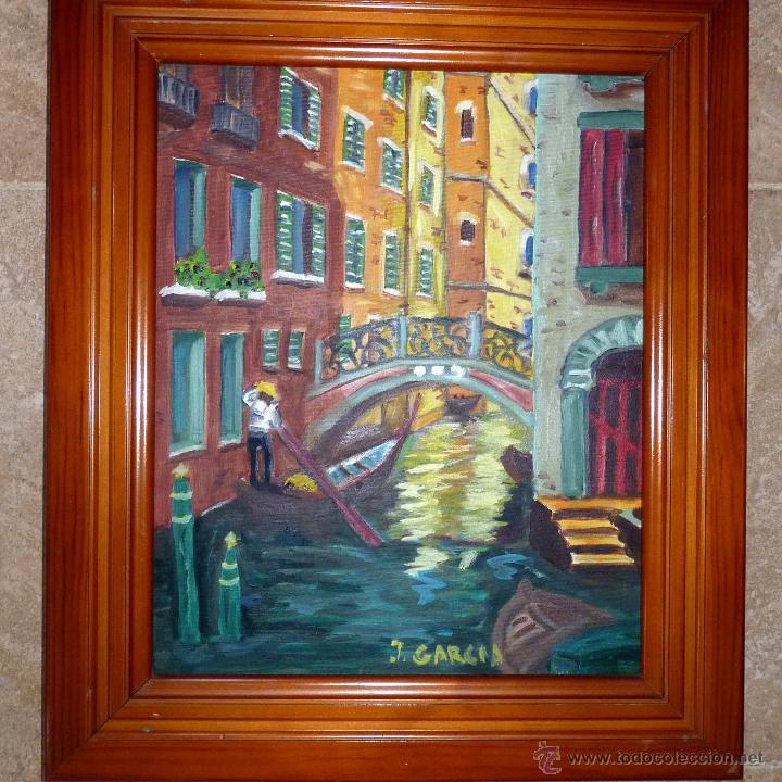 CUADRO AL OLEO PINTURA, PAISAJE VENECIANO, VENECIA (Arte - Pintura - Pintura al Óleo Contemporánea )