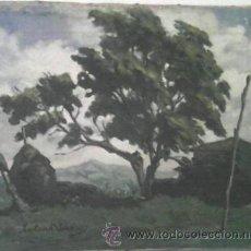 Arte: PINTURA SOLER BLASCO, FECHADA EN GUIPUZCOA MAYO 1947. Lote 45374311