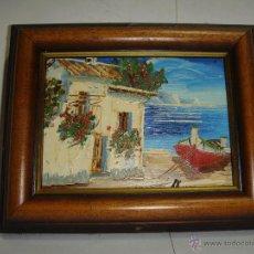 Arte: BONITA MINIATURA PINTADA A ESPATULA. SOBRE TABLA.. Lote 45393149