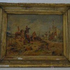 Arte: ÓLEO SOBRE TABLA SOLDADESCA 1851-1914 ANTONIO MESEGUER ALCARAZ - ABC 021. Lote 43107415