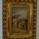 Arte: ÓLEO SOBRE TABLA A. LIZCANO 1846-1929 - ABC 027. Lote 43107570
