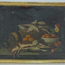 Arte: ÓLEO SOBRE LIENZO BODEGÓN SIGLO XVII-XVIII - ABC 032. Lote 43108037