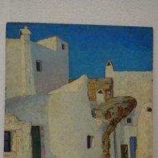 Arte: ÓLEO SOBRE TABLA PAISAJE ENRIQUE GABRIEL NAVARRO 1927-1980 - ABC 046. Lote 43138658