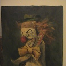 Arte: OLEO SOBRE TELA. PAYASO. ANTONI MUT TORROJA. PARIS.1951.. Lote 45504574