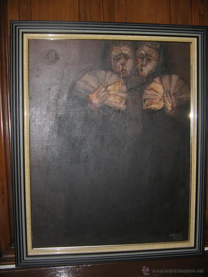 JUAN MANUEL GUTIÉRREZ MONTIEL ( JEREZ 1934 - TRES CANTOS 2008 ). TÉCNICA MIXTA/LIENZO. 96 X 76 CMTRS (Arte - Pintura - Pintura al Óleo Contemporánea )