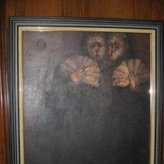 Arte: JUAN MANUEL GUTIÉRREZ MONTIEL ( JEREZ 1934 - TRES CANTOS 2008 ). TÉCNICA MIXTA/LIENZO. 96 X 76 CMTRS. Lote 45514171