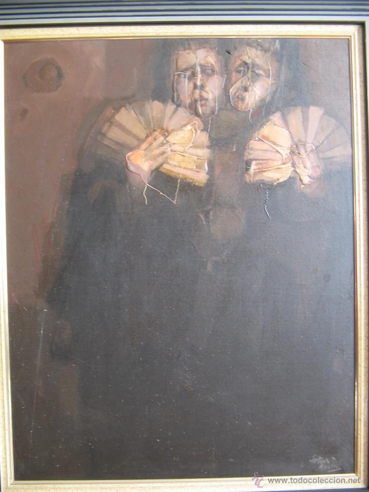 Arte: Juan Manuel Gutiérrez Montiel ( Jerez 1934 - Tres Cantos 2008 ). Técnica mixta/lienzo. 96 x 76 cmtrs - Foto 2 - 45514171