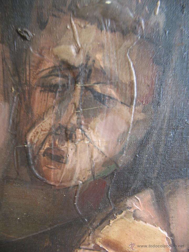 Arte: Juan Manuel Gutiérrez Montiel ( Jerez 1934 - Tres Cantos 2008 ). Técnica mixta/lienzo. 96 x 76 cmtrs - Foto 5 - 45514171