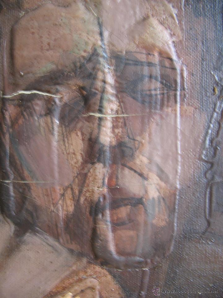 Arte: Juan Manuel Gutiérrez Montiel ( Jerez 1934 - Tres Cantos 2008 ). Técnica mixta/lienzo. 96 x 76 cmtrs - Foto 6 - 45514171