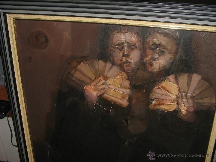 Arte: Juan Manuel Gutiérrez Montiel ( Jerez 1934 - Tres Cantos 2008 ). Técnica mixta/lienzo. 96 x 76 cmtrs - Foto 9 - 45514171