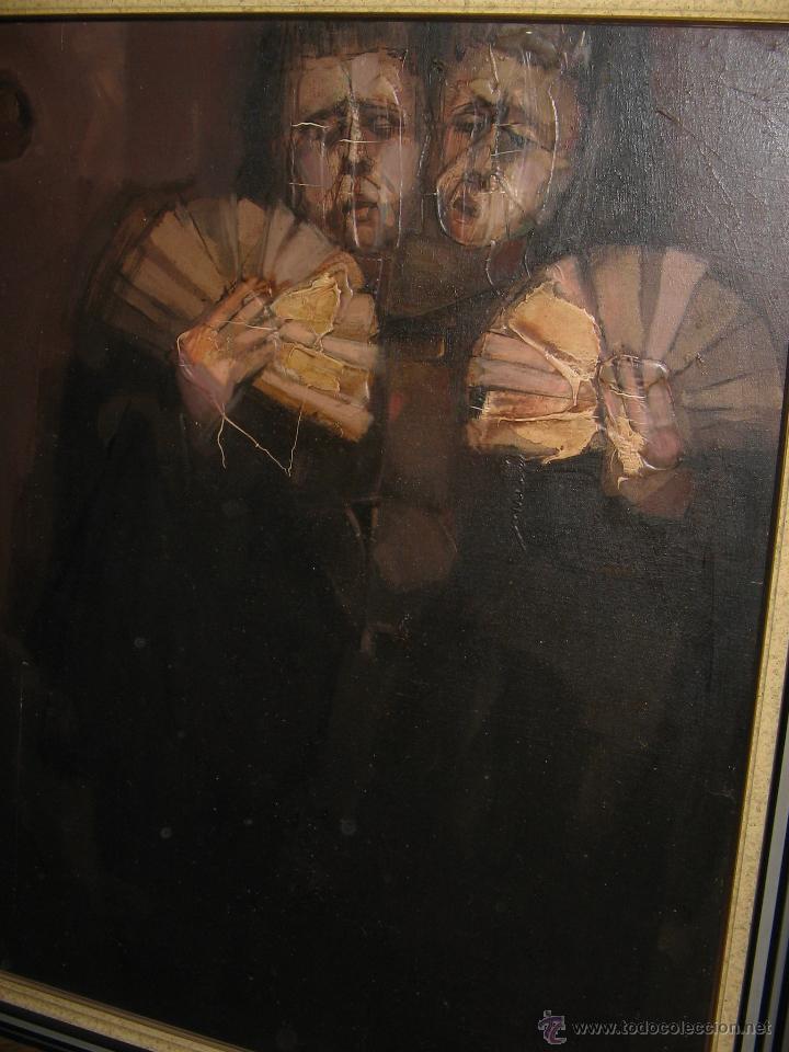 Arte: Juan Manuel Gutiérrez Montiel ( Jerez 1934 - Tres Cantos 2008 ). Técnica mixta/lienzo. 96 x 76 cmtrs - Foto 10 - 45514171