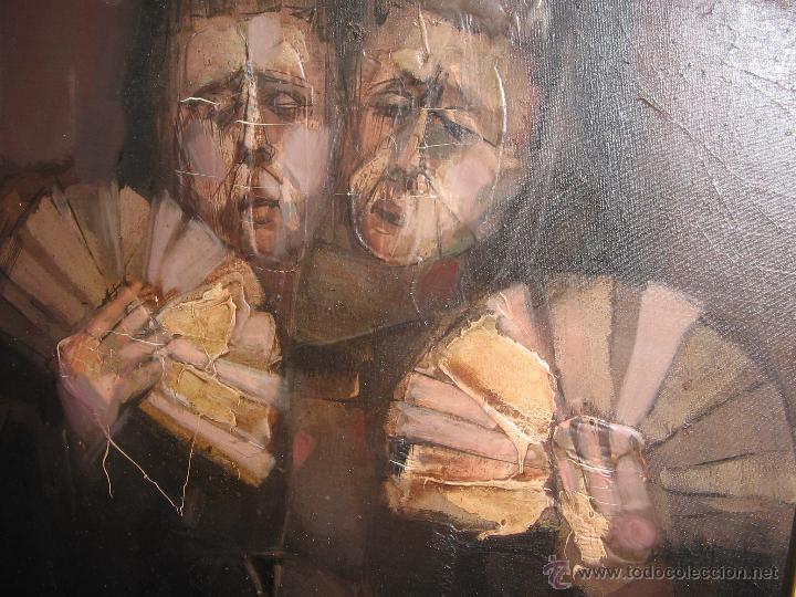 Arte: Juan Manuel Gutiérrez Montiel ( Jerez 1934 - Tres Cantos 2008 ). Técnica mixta/lienzo. 96 x 76 cmtrs - Foto 12 - 45514171