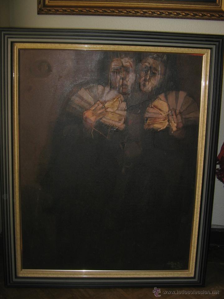 Arte: Juan Manuel Gutiérrez Montiel ( Jerez 1934 - Tres Cantos 2008 ). Técnica mixta/lienzo. 96 x 76 cmtrs - Foto 14 - 45514171
