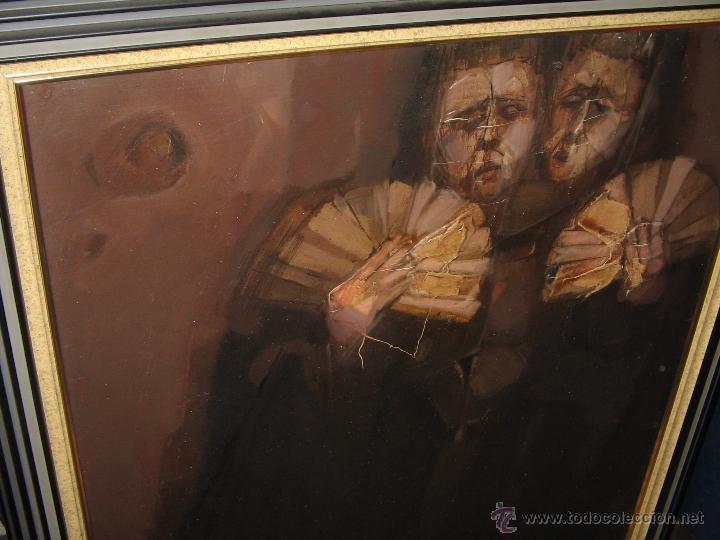 Arte: Juan Manuel Gutiérrez Montiel ( Jerez 1934 - Tres Cantos 2008 ). Técnica mixta/lienzo. 96 x 76 cmtrs - Foto 15 - 45514171
