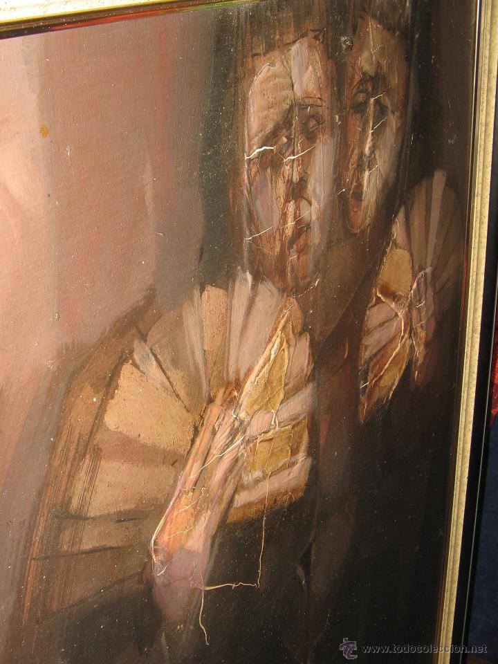 Arte: Juan Manuel Gutiérrez Montiel ( Jerez 1934 - Tres Cantos 2008 ). Técnica mixta/lienzo. 96 x 76 cmtrs - Foto 16 - 45514171