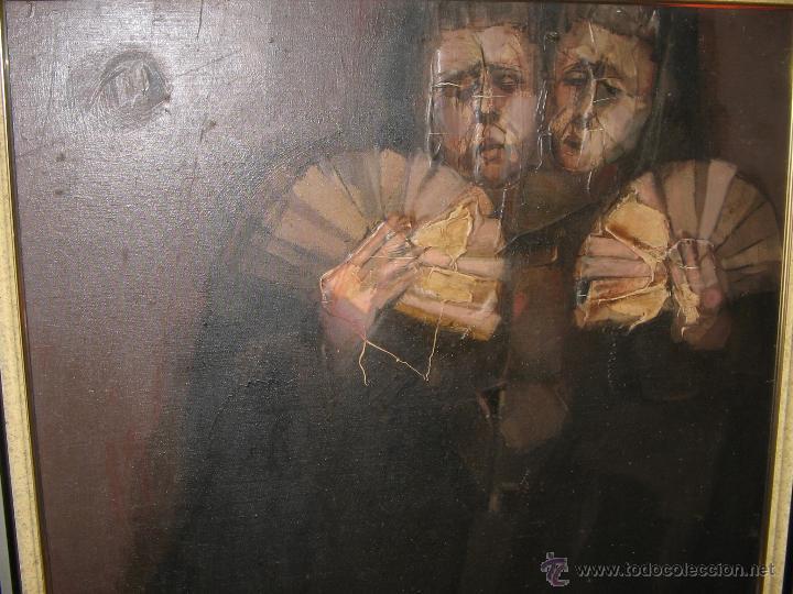 Arte: Juan Manuel Gutiérrez Montiel ( Jerez 1934 - Tres Cantos 2008 ). Técnica mixta/lienzo. 96 x 76 cmtrs - Foto 17 - 45514171