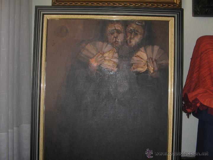 Arte: Juan Manuel Gutiérrez Montiel ( Jerez 1934 - Tres Cantos 2008 ). Técnica mixta/lienzo. 96 x 76 cmtrs - Foto 18 - 45514171