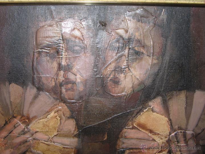 Arte: Juan Manuel Gutiérrez Montiel ( Jerez 1934 - Tres Cantos 2008 ). Técnica mixta/lienzo. 96 x 76 cmtrs - Foto 20 - 45514171