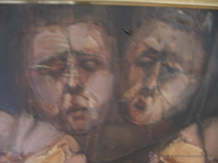 Arte: Juan Manuel Gutiérrez Montiel ( Jerez 1934 - Tres Cantos 2008 ). Técnica mixta/lienzo. 96 x 76 cmtrs - Foto 22 - 45514171