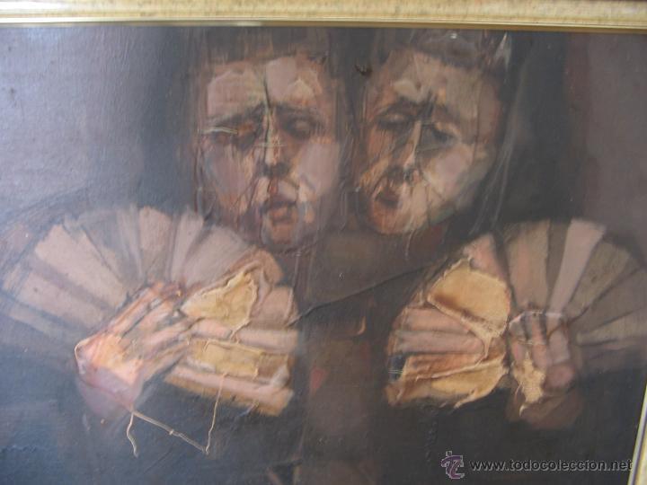 Arte: Juan Manuel Gutiérrez Montiel ( Jerez 1934 - Tres Cantos 2008 ). Técnica mixta/lienzo. 96 x 76 cmtrs - Foto 25 - 45514171