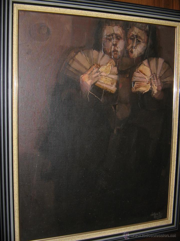Arte: Juan Manuel Gutiérrez Montiel ( Jerez 1934 - Tres Cantos 2008 ). Técnica mixta/lienzo. 96 x 76 cmtrs - Foto 26 - 45514171