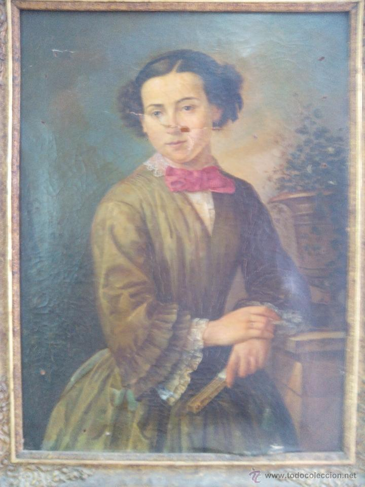 RETRATO (Arte - Pintura - Pintura al Óleo Antigua siglo XVIII)