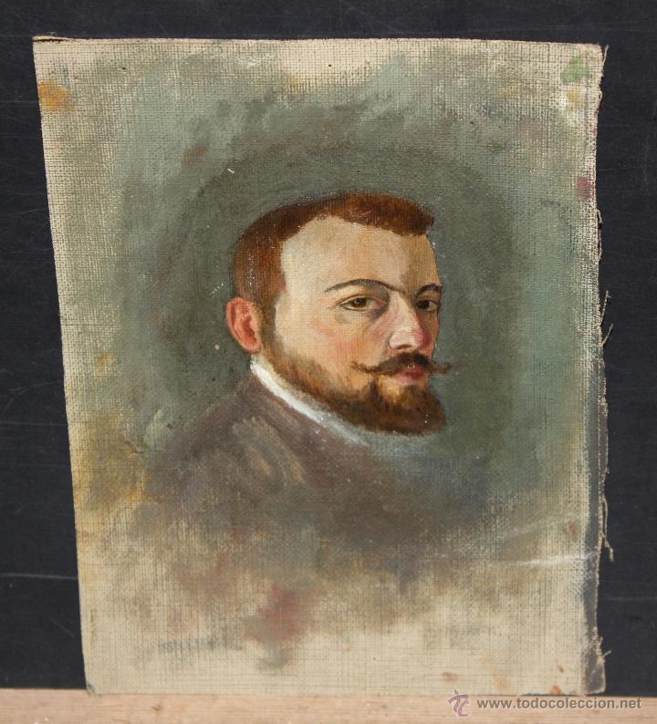 ANONIMO. OLEO SOBRE TELA. RETRATO MASCULINO (Arte - Pintura - Pintura al Óleo Contemporánea )