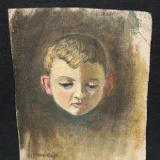 Arte: ANONIMO. OLEO SOBRE TELA DE LOS AÑOS 40. RETRATO DE UN NIÑO. Lote 262345070