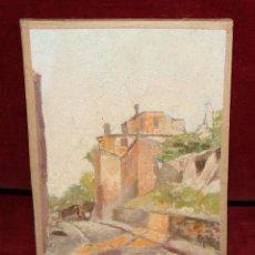 Arte: ANONIMO. OLEO SOBRE TABLA DE LOS AÑOS 40. PAISAJE RURAL. Lote 45636183