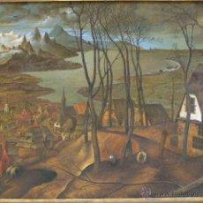 Arte: EXTRAORDINARIA COPIA DE PINTURA FLAMENCA. BRUEGHEL EL VIEJO . OLEO.. Lote 45681050
