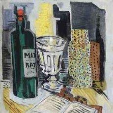 Arte: SERNA, GONZÁLEZ DE LA, ISMAEL (GUADIX,1897-PARÍS, 1968). BODEGÓN CON BOTELLA. CALIDAD DE MUSEO.. Lote 77561287