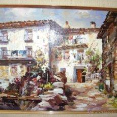 Arte: CUADRO AL OLEO. ERESUE ( HUESCA ). Lote 45791029