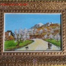Arte: OLEO SOBRE TABLEX CON MARCO. Lote 45821719