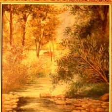 Arte: ÓLEO SOBRE TELA.FIRMADO TERESA.1922. Lote 45871744