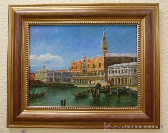 PINTURA AL OLEO DE VENECIA FIRMADO CONESSA (Arte - Pintura - Pintura al Óleo Moderna sin fecha definida)