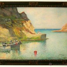 Arte: MANUEL TEJERO ( SEVILLA, 1ª MITAD XX) - PASAJES 1935, (PAIS VASCO, SAN SEBASTIAN). Lote 45948144