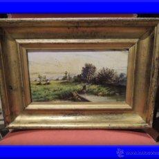 Kunst - CUADRO AL ESMALTE SOBRE BARRO FIRMADO FROMENTIN 1868 - 36774925