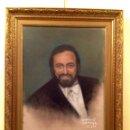 Arte: CUADRO DEL TENOR DE ÓPERA LUCIANO PAVAROTTI CON MARCO FIRMADO ORIGINAL. Lote 46059468