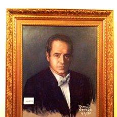 Arte: CUADRO DEL CANTANTE DE ÓPERA JOSEP MARIA CARRERAS I COLL ORIGINAL FIRMADO MEDIDAS 85X70CM CON MARCO. Lote 46060211
