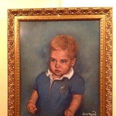 Arte: CUADRO DEL HIJO MAYOR DE LA INFANTA CRISTINA PRIMOGÉNITO ORIGINAL FIRMADO.. Lote 46063521
