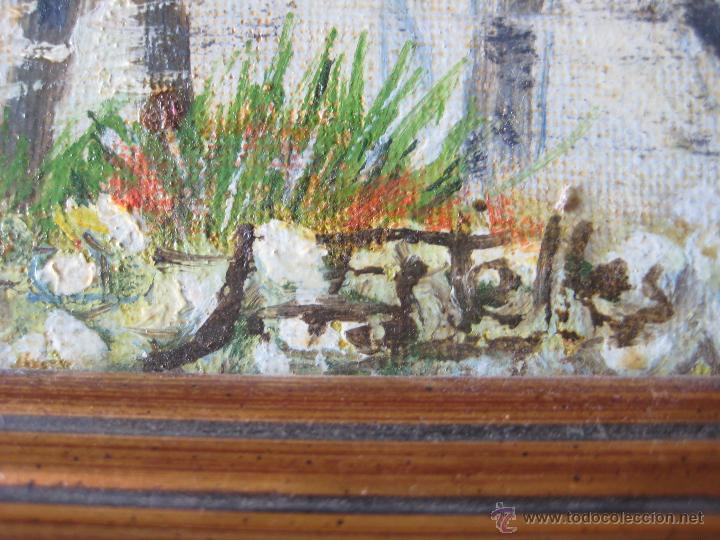 Arte: PAISAJE BOSCOSO- OLEOSOBRE LIENZO FIRMADO J. ESTELLÉS - Foto 3 - 46144196