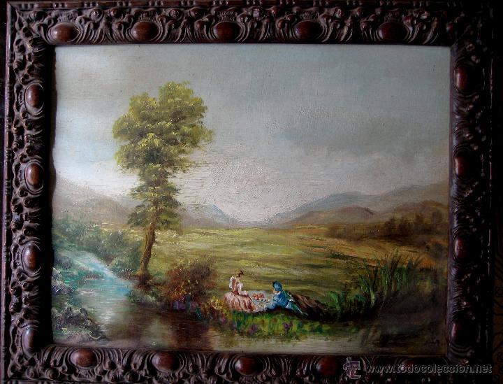 ESCENA EN EL CAMPO. ÓLEO/TABLA.. FIRMADO (Arte - Pintura - Pintura al Óleo Contemporánea )