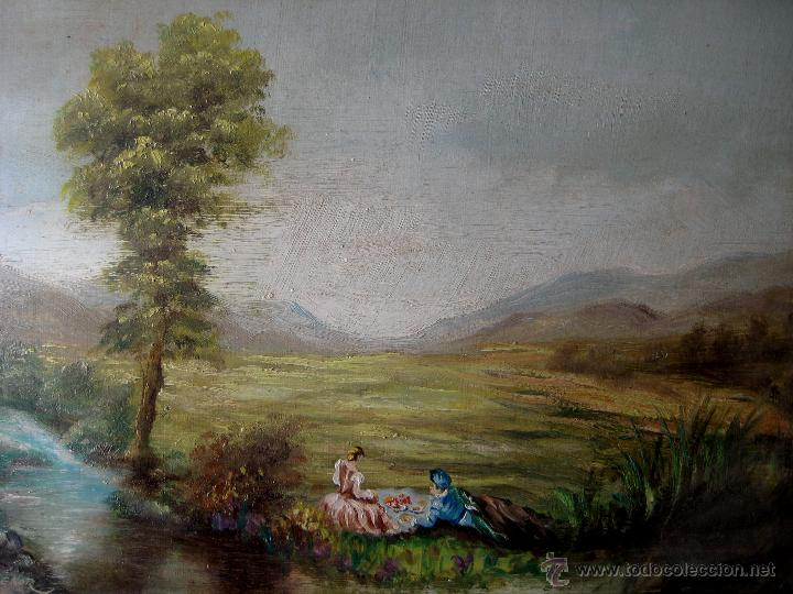 Arte: ESCENA EN EL CAMPO. ÓLEO/TABLA.. FIRMADO - Foto 2 - 46144258