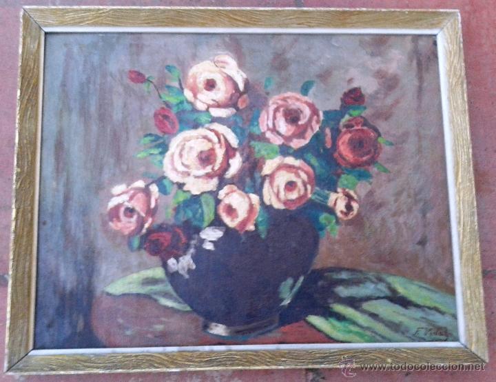FRANCESC VIDAL GOMÀ (1894-1970) - OLEO SOBRE TABLA ENMARCADO 42 X 33 (Arte - Pintura - Pintura al Óleo Contemporánea )