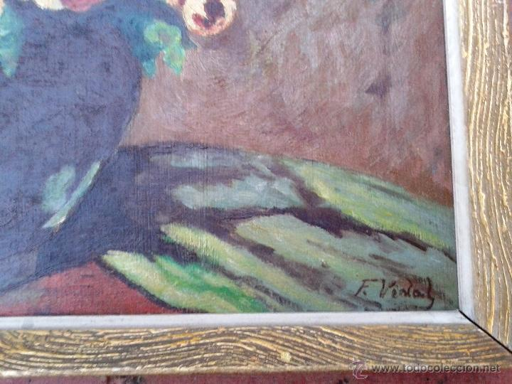 Arte: FRANCESC VIDAL GOMÀ (1894-1970) - OLEO SOBRE TABLA ENMARCADO 42 X 33 - Foto 2 - 46203730