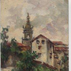 Arte: MINIATURA PAISAJE AL ÓLEO / FIRMA JULIO PERERA - 1919. Lote 46413238