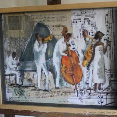 Arte: TAT VILÀ - ÓLEO Y TÉCNICA MIXTA SOBRE TABLA 53 X 43, MARCO VITRINA CRISTAL. Lote 46435594