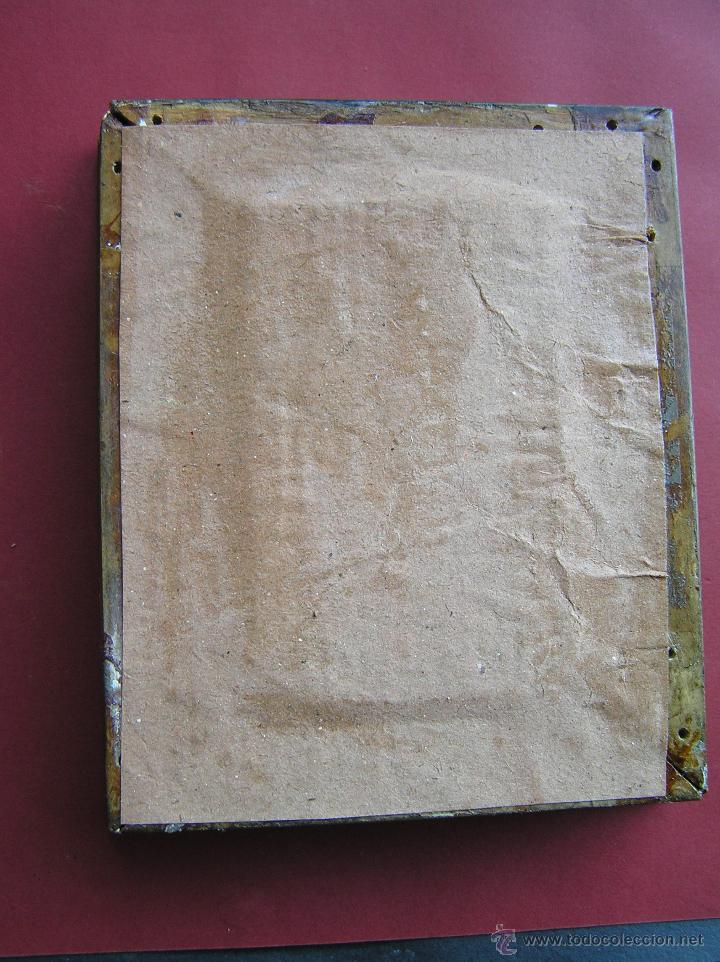 Arte: ÓLEO SOBRE OPALINA. MINIATURA . PRECIOSO RAMO DE ROSAS . Circa 1900. - Foto 14 - 46470956