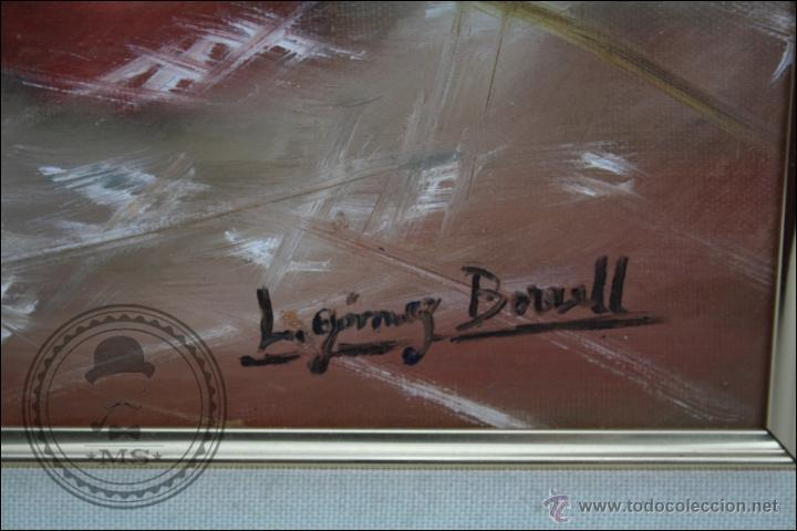 Arte: Pintura al Óleo sobre Lienzo - Firmado L. Gómez Borrell - Bodegón con Trigo - Enmarcado - 54 x 46 Cm - Foto 4 - 46521093