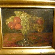Arte: NATURALEZA MUERTA DE VICTORIANO CODINA LANGLIN (1844-1911). Lote 46528924